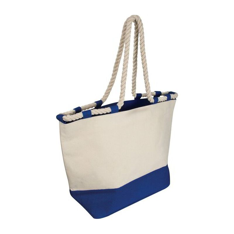Beach bag with drawstring