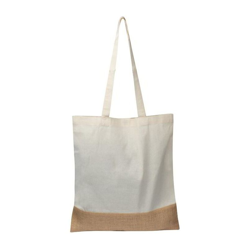 Carrying bag with jute bottom