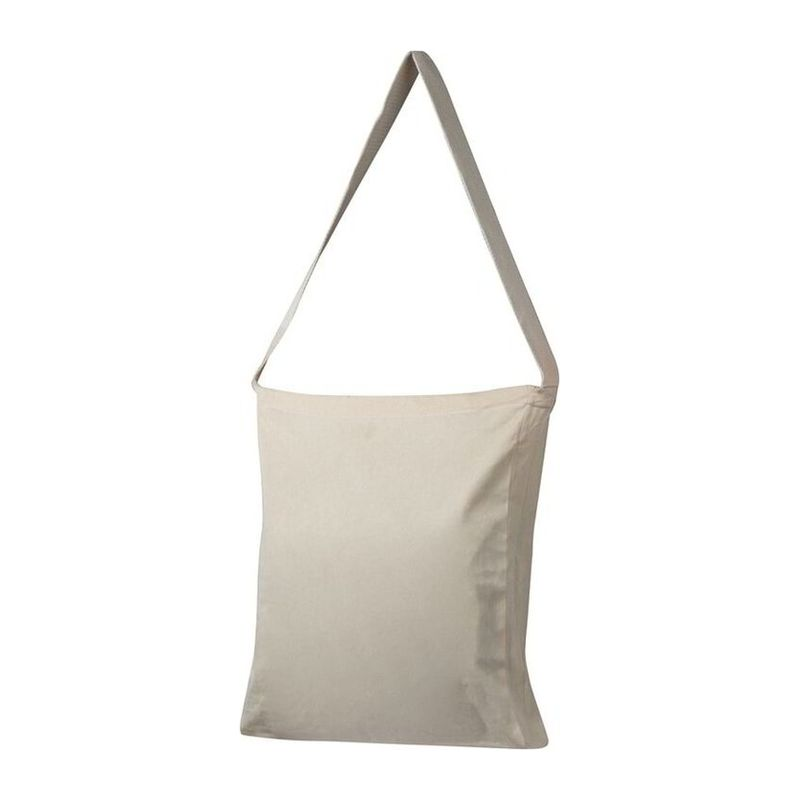 Cotton bag with woven carrying handle